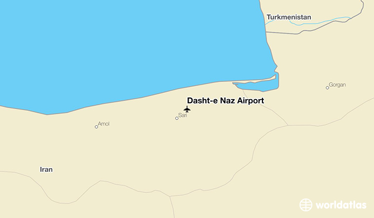 Dasht-e Naz Airport location on a map