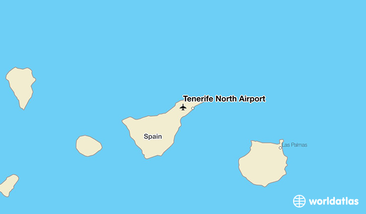 Tenerife North Airport location on a map