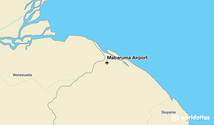 Mabaruma Airport location on a map