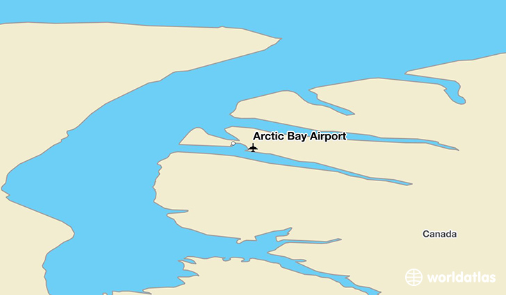 Arctic Bay Airport location on a map