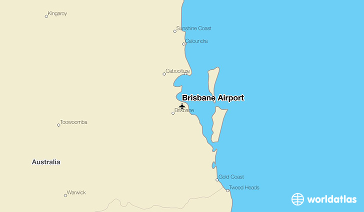 Brisbane Airport location on a map