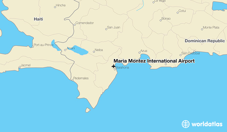 María Montez International Airport location on a map
