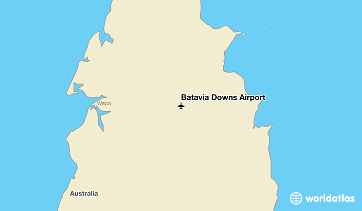 Batavia Downs Airport location on a map