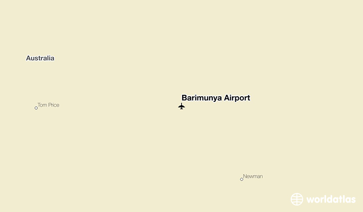 Barimunya Airport location on a map