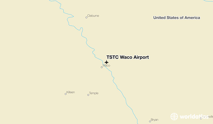 TSTC Waco Airport location on a map
