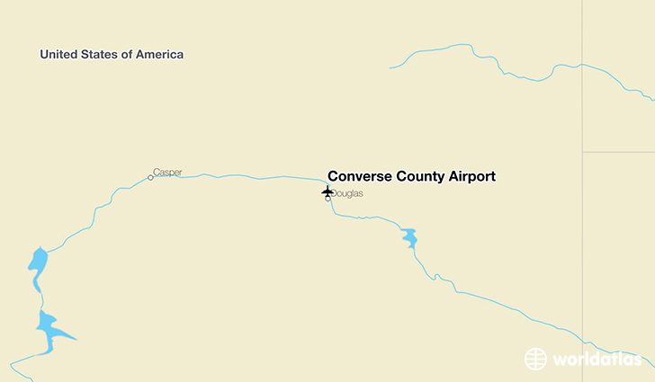 Converse County Airport location on a map
