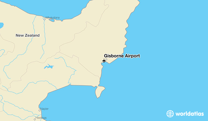 Gisborne Airport location on a map