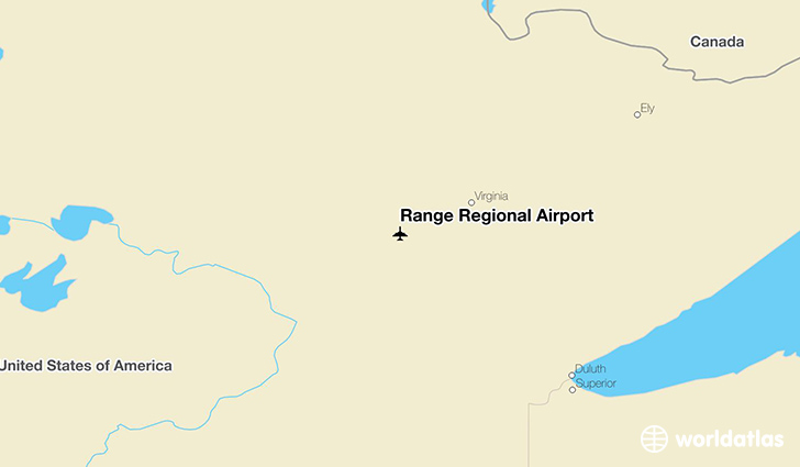 Range Regional Airport location on a map