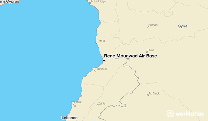 Rene Mouawad Air Base location on a map