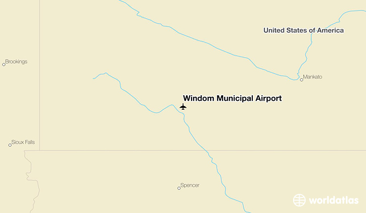 Windom Municipal Airport location on a map