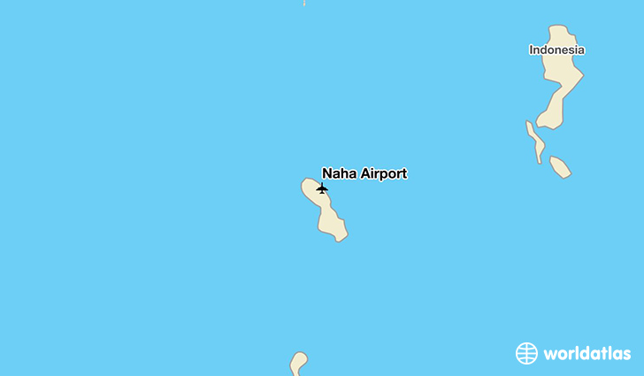 Naha Airport location on a map