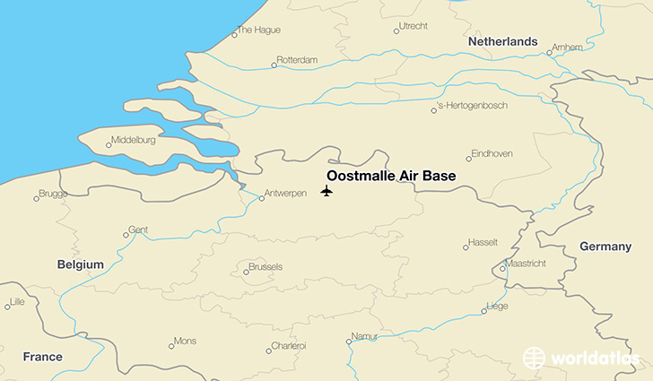 Oostmalle Air Base location on a map