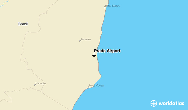 Prado Airport location on a map