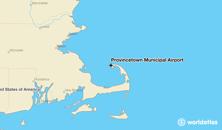 Provincetown Municipal Airport location on a map