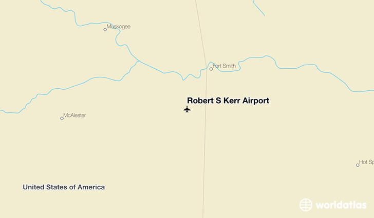 Robert S Kerr Airport location on a map