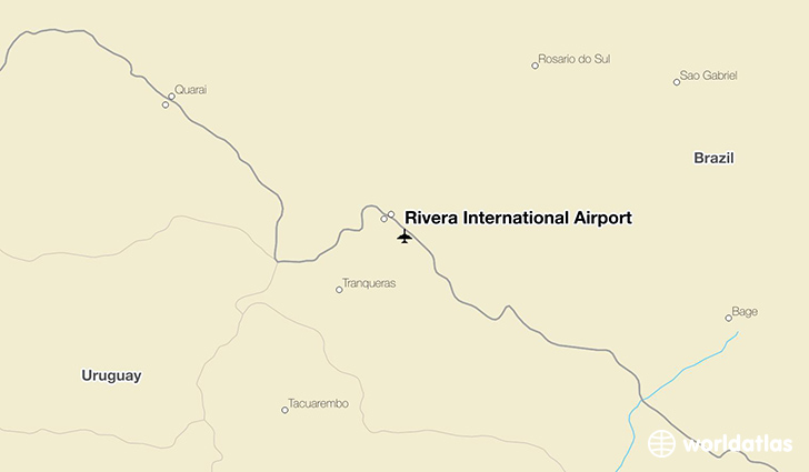 Rivera International Airport location on a map