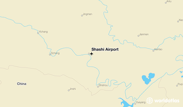 Shashi Airport location on a map