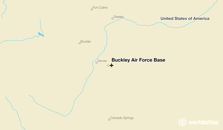 Buckley Air Force Base location on a map