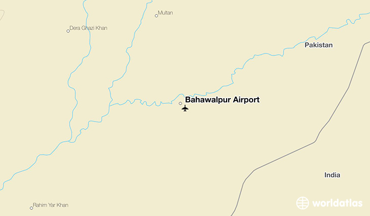 Bahawalpur Airport location on a map