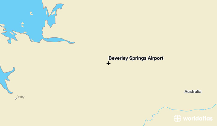 Beverley Springs Airport location on a map