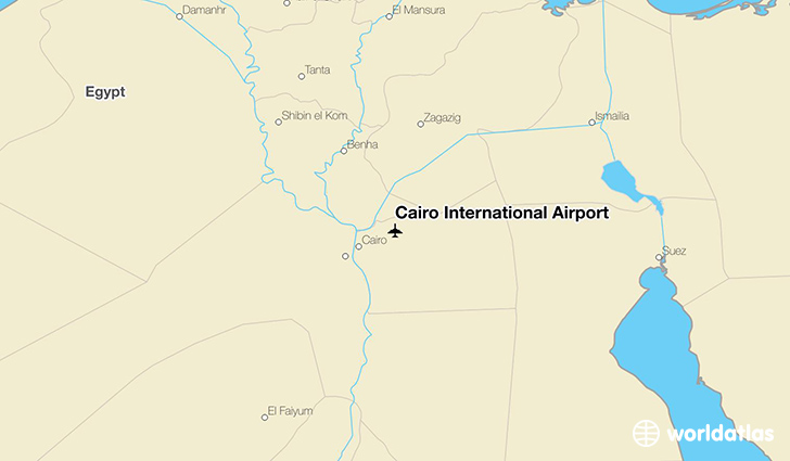 Cairo International Airport location on a map
