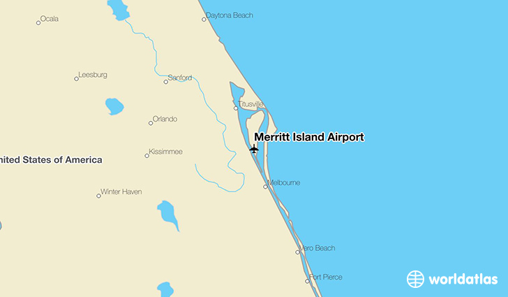 Merritt Island Airport location on a map
