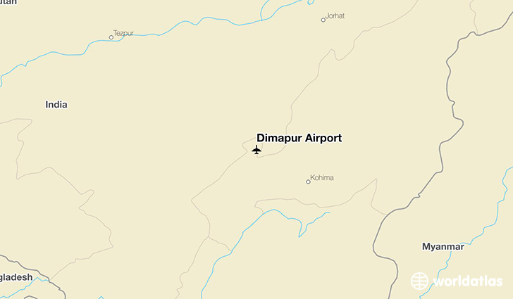 Dimapur Airport location on a map