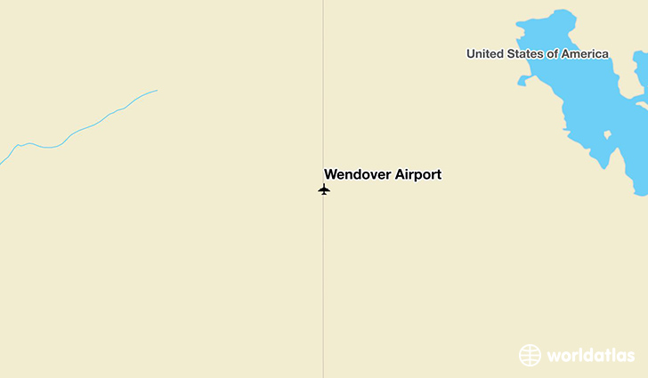 Wendover Airport location on a map