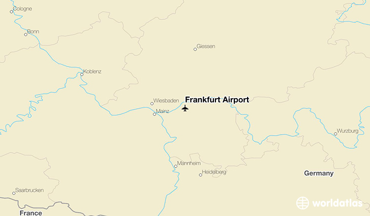 Frankfurt Airport location on a map