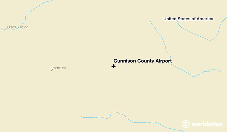 Gunnison County Airport location on a map