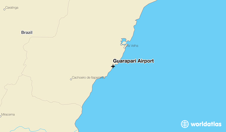 Guarapari Airport location on a map