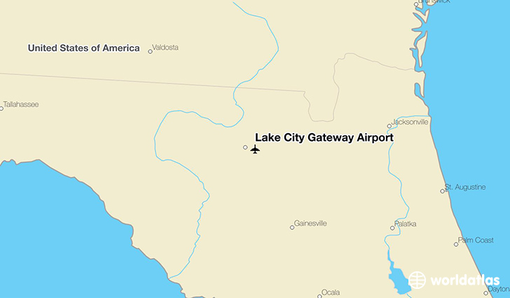 Lake City Gateway Airport location on a map