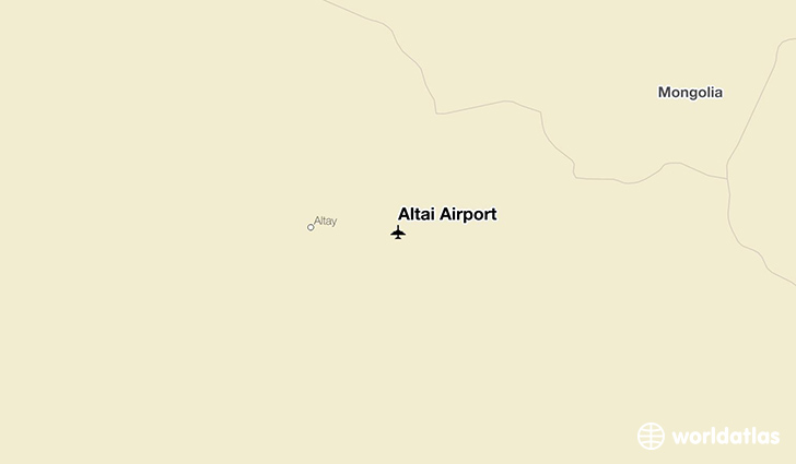 Altai Airport location on a map