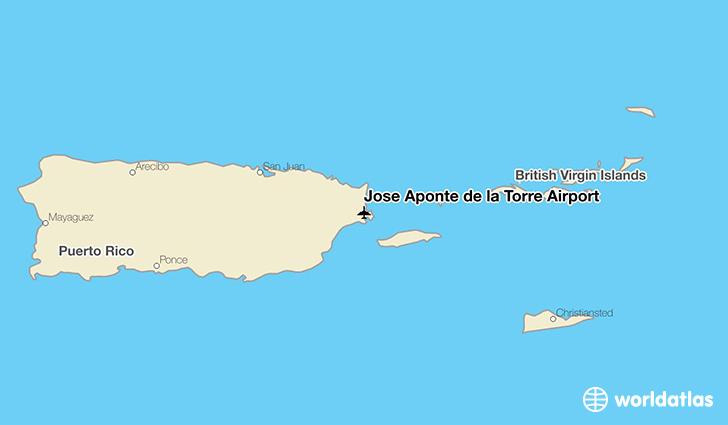 José Aponte de la Torre Airport location on a map