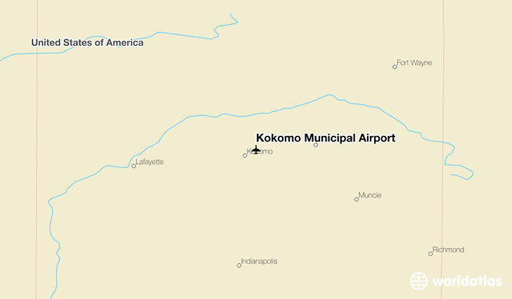 Kokomo Municipal Airport location on a map