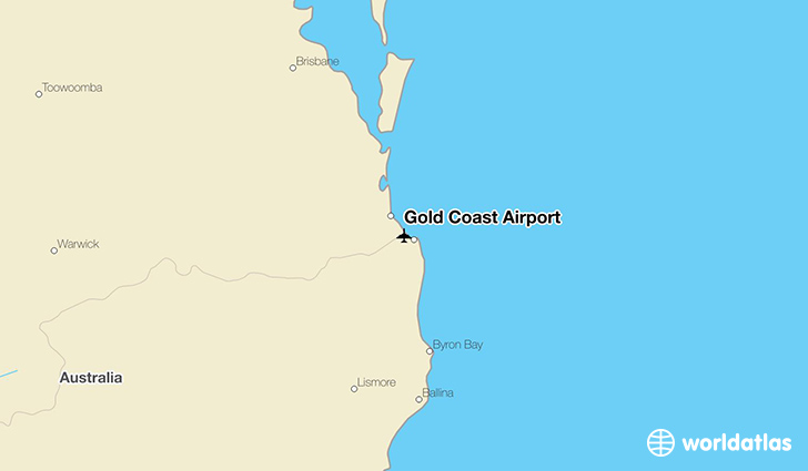 Gold Coast Airport OOL WorldAtlas