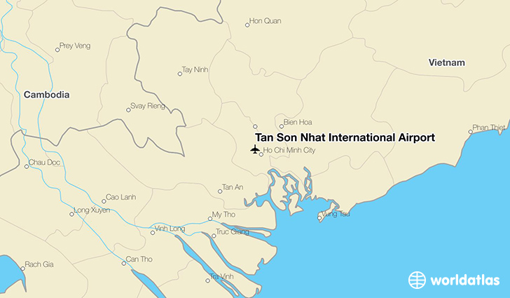 Tan Son Nhat International Airport location on a map