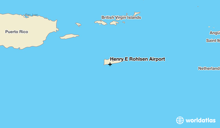 Henry E Rohlsen Airport location on a map