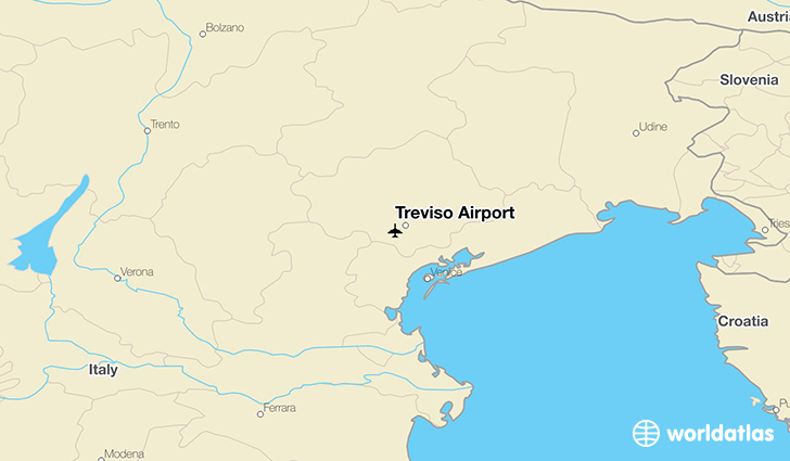 Treviso Airport location on a map