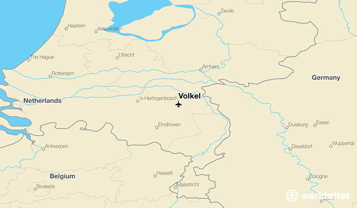 Volkel location on a map