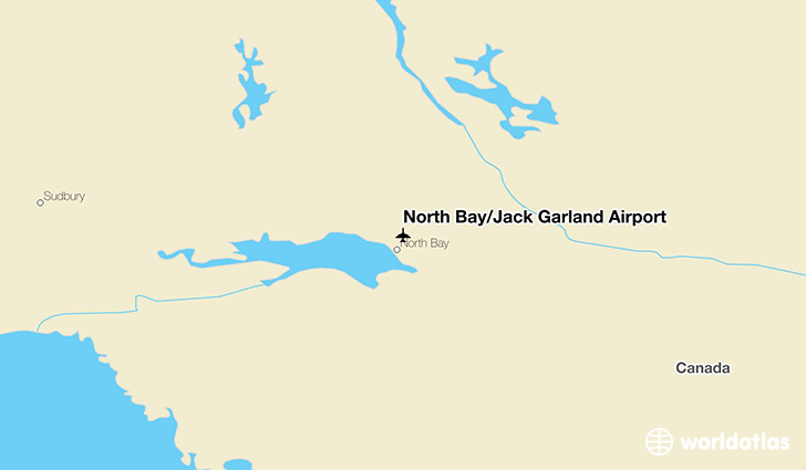 North Bay/Jack Garland Airport location on a map