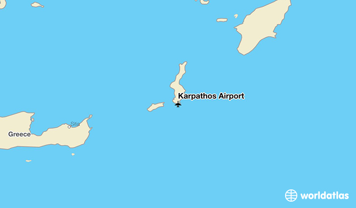 Karpathos Airport location on a map
