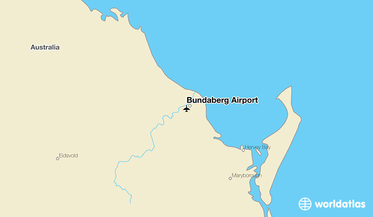 Bundaberg Airport location on a map