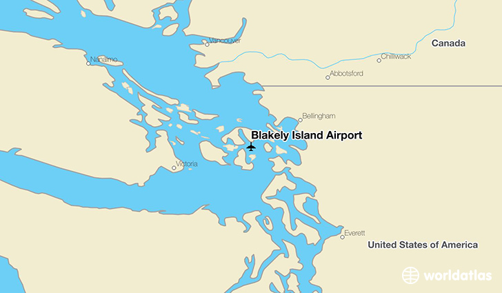 Blakely Island Airport location on a map
