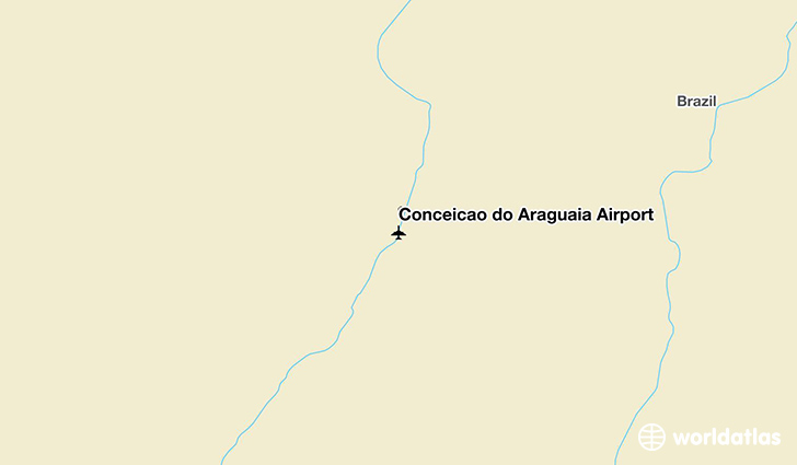 Conceição do Araguaia Airport location on a map