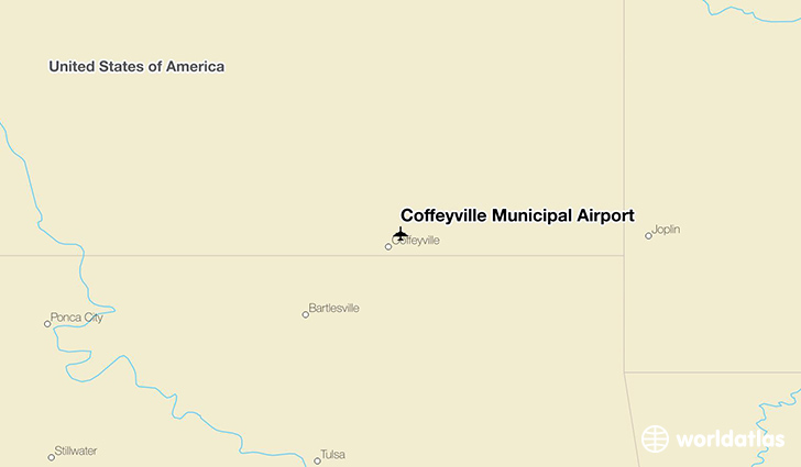 Coffeyville Municipal Airport location on a map