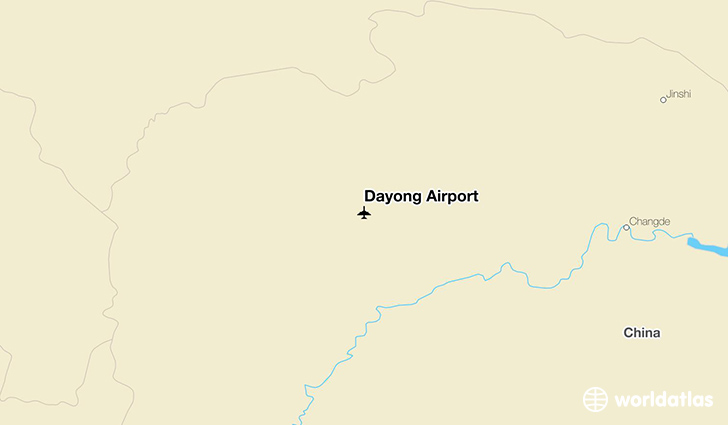 Dayong Airport location on a map