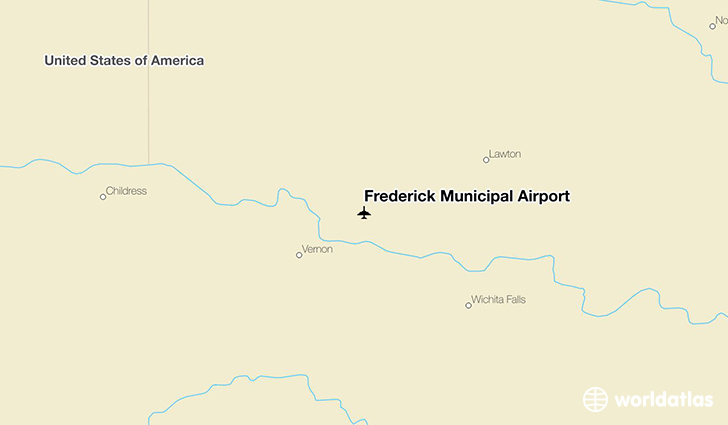 Frederick Municipal Airport location on a map