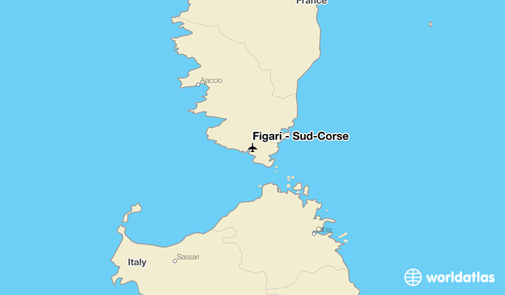 Figari - Sud-Corse location on a map