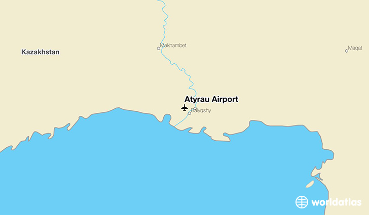Atyrau Airport location on a map
